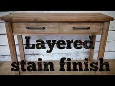 How to Layer stain and paint to create this modern rustic finish! White Washed Furniture, Rustic Furniture, Painted Furniture, Diy Furniture, Furniture Refinishing, Outdoor Furniture, Modern Rustic, Rustic Wood, Modern Farmhouse
