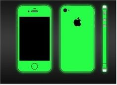 iPhone 4 and Glow in the Dark Green Full Body Skin(DECAL) Kit- Rosen- you need this! Cool Cases, Cute Phone Cases, Iphone Cases, Iphone Decal, Iphone 4s, Gadgets And Gizmos, Cool Gadgets, Cell Phone Covers, Tecno