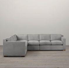 Collins Upholstered L-Sectional | Sectionals | Restoration Hardware COLOR: FOG