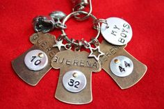 Football Mom/Dad/Coach Keychain by tagsoup on Etsy