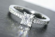 """Awesome """"diamond solitaire rings princess cut"""" info is offered on our internet site. Check it out and you wont be sorry you did. Princess Cut Rings, Princess Cut Diamonds, Diamond Solitaire Rings, Modern Jewelry, Jewelry Rings, Silver Rings, Wedding Rings, Engagement Rings, Jewels"""