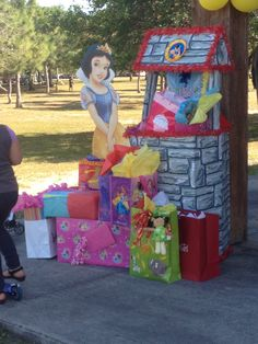 Snow White wishing well for birthday party.                                                                                                                                                                                 More