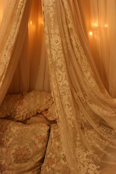 Sheelin Antique Lace Shop Lace Drapes