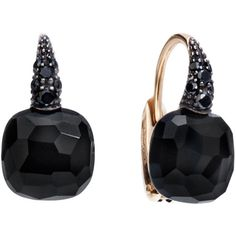 Pomellato Earrings Capri ($3,155) ❤ liked on Polyvore featuring jewelry, earrings, black, pomellato jewelry, pomellato earrings, pomellato, cushion cut earrings and earrings jewelry
