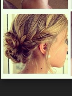 Loose updo with plait