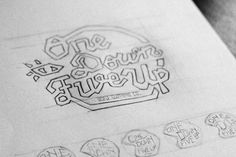 Original sketch of our typographic 3/4 helmet design. You can pick up the limited edition T-shirt here http://www.odfu.co.uk/
