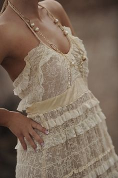 Lace dress and Pearls