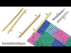 Another finding for end of wide beaded bracelet. ~ Seed Bead Tutorials