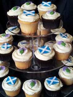 Scottish themed cupcakes by Eat Freely, via Flickr