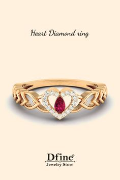 Details about  /1.55 Heart Irish Celtic Claddagh Real Amethyst Modern Ring Solid 14k Yellow Gold
