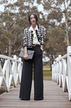 Модные широкие брюки в реальных образах. Как вам? 0