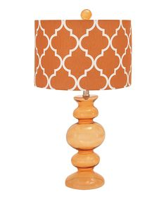 Look at this Orange Glass Table Lamp on #zulily today!