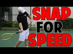 TENNIS FOREHAND SECRET | Snap Racquet For Speed Drill - YouTube