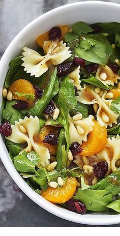 40 Best Pasta Salad Recipes - Mandarin Pasta Spinach Salad with Teriyaki Dressin. - 40 Best Pasta Salad Recipes – Mandarin Pasta Spinach Salad with Teriyaki Dressing - Pasta Salad Recipes, Healthy Salad Recipes, Vegetarian Recipes, Cooking Recipes, Side Salad Recipes, Healthy Meals, Easy Pasta Salad, Unique Pasta Salad, Quick Healthy Lunch