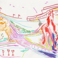 Color Line Variations Process Art, Color Lines, Illustration, Illustrations
