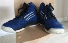 Barely Used Size 1 Adizero Basketball Sneakers