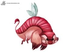 Day 845# Faerie Armadillo by Cryptid-Creations.deviantart.com on @DeviantArt