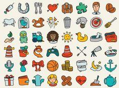 рисованной иконки каракули пакет