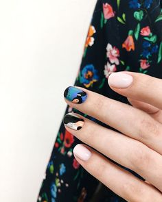 Nail place (the nail place.manicure) * photos and videos on Pretty Nail Designs, Diy Nail Designs, Simple Nail Designs, Trendy Nail Art, Nail Art Diy, Diy Nails, Uñas Diy, Nail Design Video, Nails Design