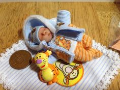 Dolls house ooak baby boy removable coat by Sarahsooakbabies