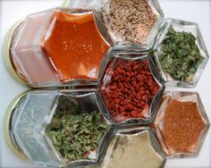 Hand embossed organic spice rack, each jar is labeled with the type of spice or mix. Place on your fridge, metal back splash or anywhere else you would put a magnet. Food Catalog, New Oven, Home Renovation, Magnets, Spices, Jar, Spice Racks, Kitchen, Foodies
