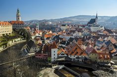 Český Krumlov. The old town of the Bohemian Český Krumlov with its castle tower and Vltalva river on the left, Czech Republic by ilias nikoloulis on 500px.