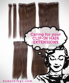 c02e29522f5b Caring for your Babe Clip-In Hair Extensions Fake Hair Extensions