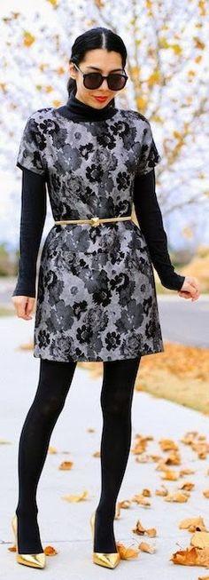 We like the all black look. #fashion