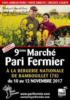 9ème marché d'automne Pari Fermier à la Bergerie Nationale de Rambouillet (78)