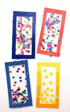 Get the kids ready to go to school by making adorable Confetti DIY Bookmarks. There& no better way to launch back into the school mindset than making a bookmark. Diy Crafts Bookmarks, Bookmark Craft, Bookmarks Kids, Bookmark Ideas, Easy Crafts For Kids, Craft Activities For Kids, Diy For Kids, Craft Ideas, Marque Page