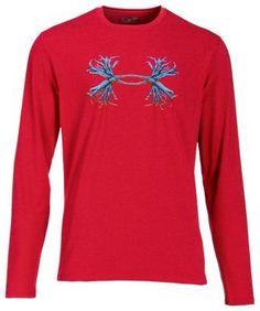 Under Armour Antler Logo Long-Sleeve T-Shirt for Men - Red/Ultra Blue - L