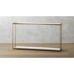 FOR JUST OUTSIDE THE MASTER BEDROOM Cleo Console Table $399 CB2