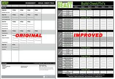 New and improved Body Beast workout sheets to track your progress. Aren't these much better? Click image to go to download page. #beastup #bodybeast