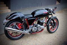 Norton Commando 850 Cafe Racer motorcycle