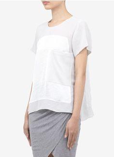 Helmut LangPanelled chiffon T-shirt