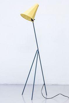 Model 569 'Giraffen' floor lamp by Hans Bergström for Ateljé Lyktan, 1950s