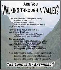 Are You Walking Through A Valley