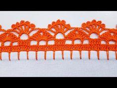 Crochet Boarders, Crochet Edging Patterns, Crochet Lace Edging, Crochet Doilies, Basic Embroidery Stitches, Crochet Stitches, Embroidery Patterns, Knit Crochet, Saree Kuchu New Designs