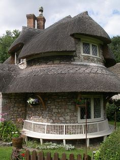 """""""Circular Cottage."""" Blaise Hamlet, Bristol by GrossoMatto, via Flickr. Hamlet designed by John Nash in 1809 to house pernsioners from the Blaise estate, Bristol."""