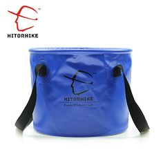 TOOGOO Portable Folding Bucket Foldable Basin Tourism Outdoor Folding Bucket with Lids Fishing Camping Car Wash Bucket Outdoor Camping Blue 10L