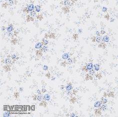 Rasch Textil Petite Fleur 3 23-285047 Blüten creme-weiß Papier