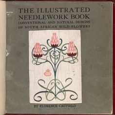 Front cover from 'The Illustrated Needlework Book', by Florence Caulfield - link has line drawing patterns