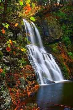 The Main Waterfall at Bushkill Falls Park in Pennsylvania