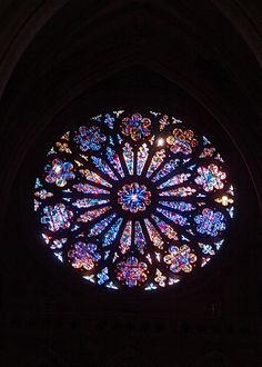 Stained glass window, National Cathedral