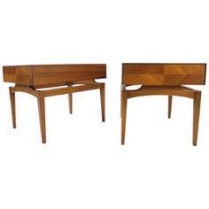 John Keal Sculpted End Tables for Brown Saltman