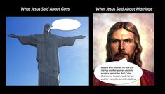 What Jesus said - homosexuality, gay marriage, divorce, jesus, bible quotes