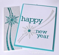 handmade new year card from marybeths time for paper die cut glitter paper