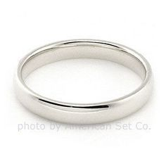 PALLADIUM 3mm  COMFORT FIT WEDDING BAND RING size 4  ( 4.25 4.5 4.75 ) #AmericanSetCo