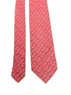 Ermenegildo Zegna Silk Men's Necktie Pink 58x3.25 Made in Italy Z #ERMENEGILDOZEGNA #NeckTie