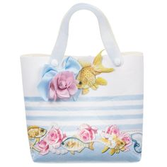 Monnalisa Girls Neoprene Tote Bag (17cm) at Childrensalon.com